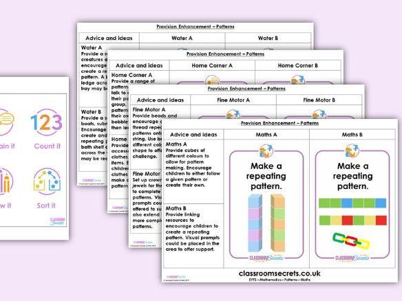 EYFS Maths Patterns Provision Enhancement Activities