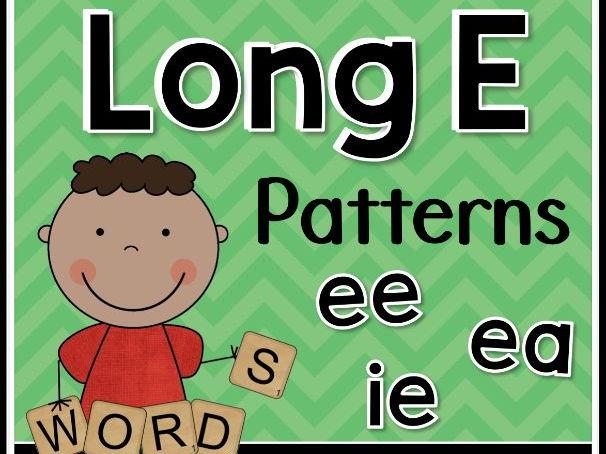 Long E Word Work Activities: Vowel Teams EE, EA, IE