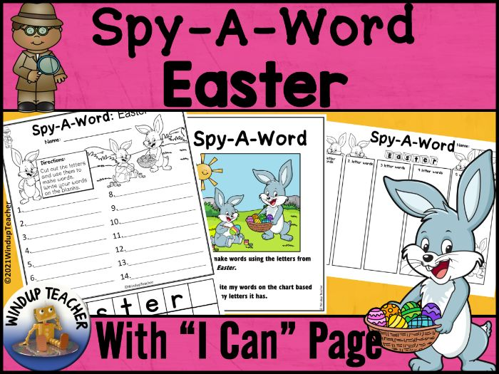 Easter Word Activity | Word Work Center