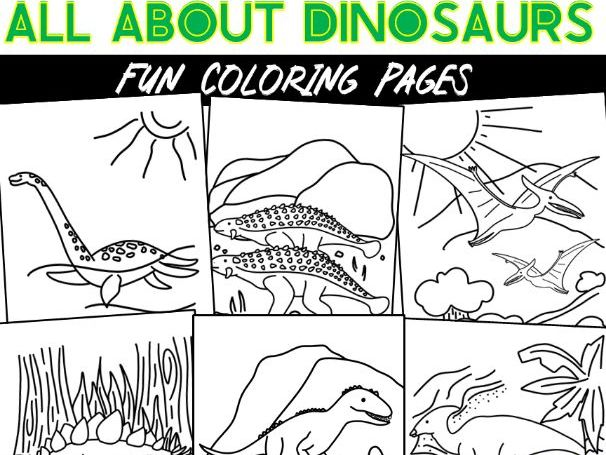 All About Dinosaurs Coloring Pages