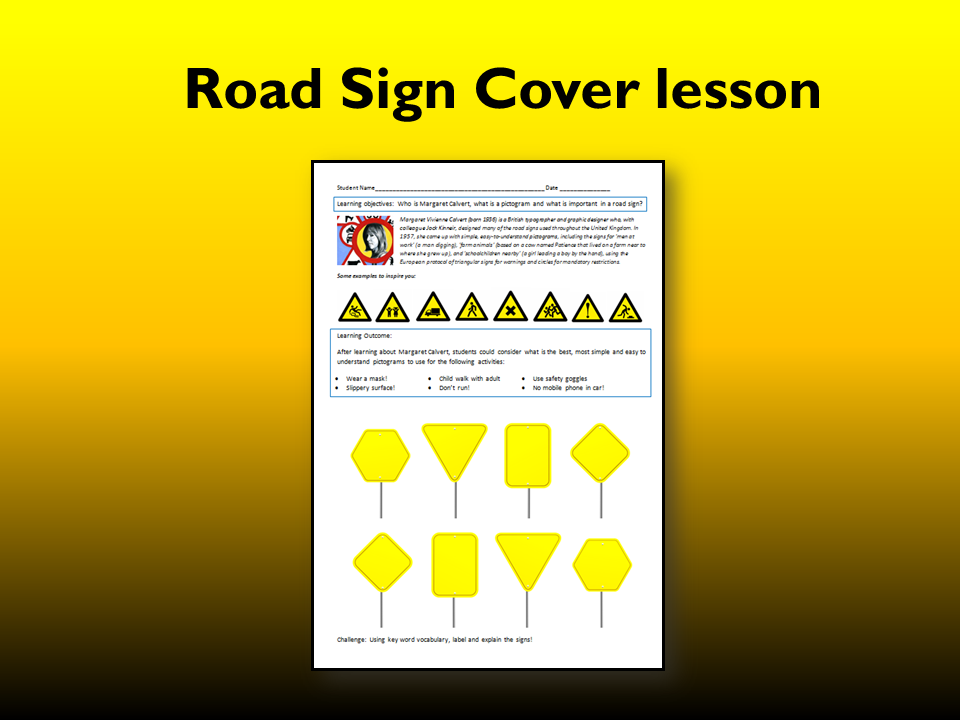 D&T Road sign Cover work sheet
