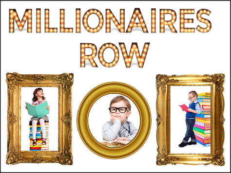 Millionaires Row Display Board - Read a million word count