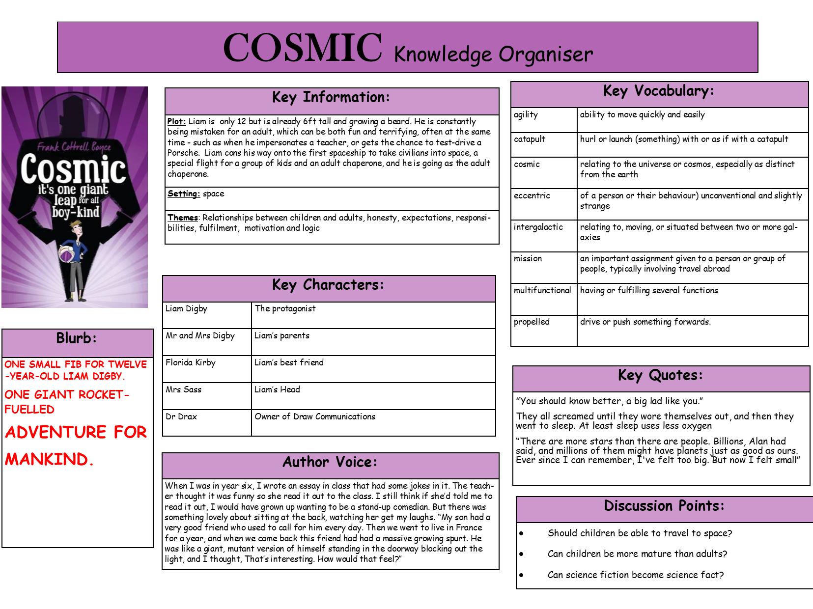 Cosmic Knowledge Organiser