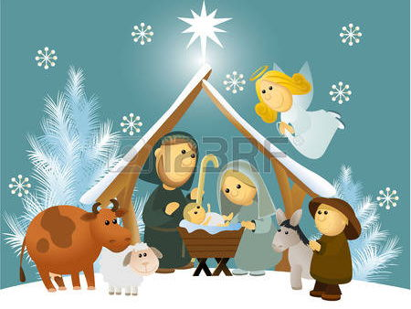 Entre le Boeuf et l'Ane Gris - lovely French carol for Christmas with recorded accompaniment.