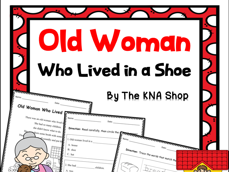 Old Woman Who Lived in a Shoe Worksheets