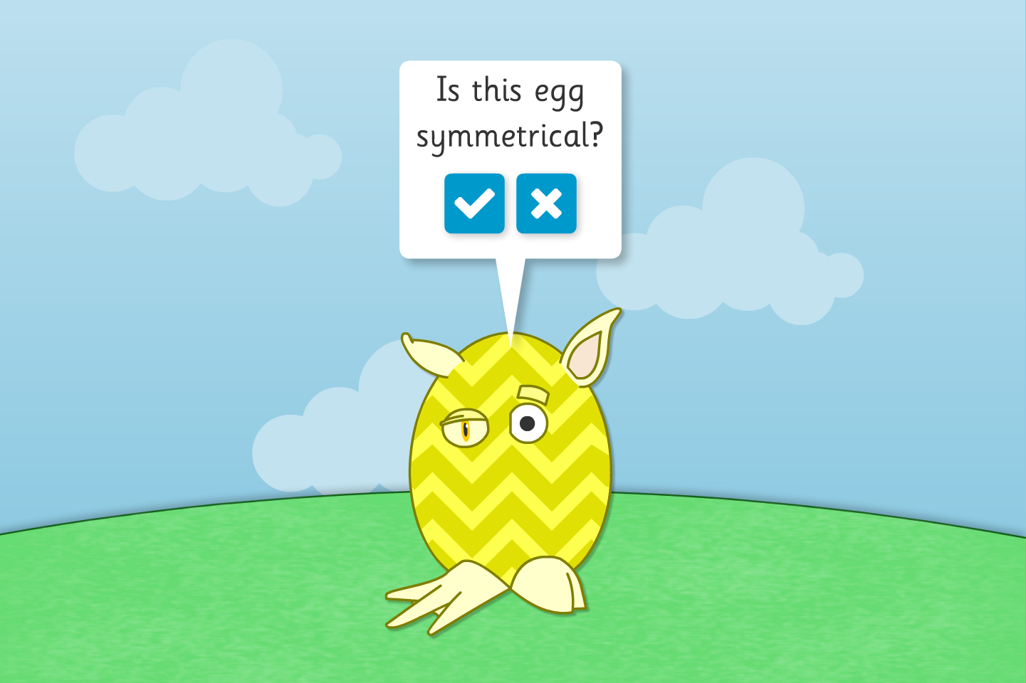 Symmetrical or Not? - Easter Egg Creatures - Easter KS1