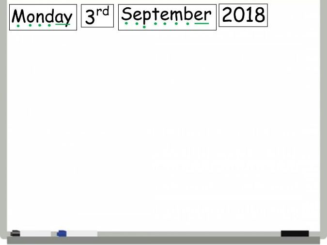 Dates Days Months Display for Whiteboard with Sound Buttons