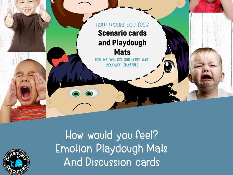 Emotions and Feelings-Play mats and discussion cards