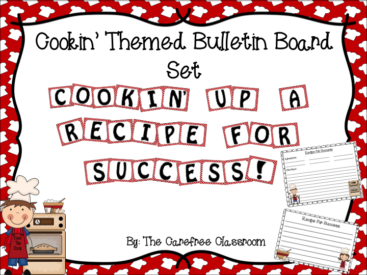Writing Bulletin Board Set: Cooking Themed