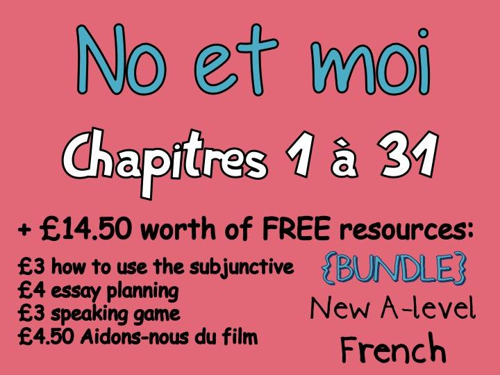 No et moi - Etude des chapitres 1 à 31 - Worth more than £40!!