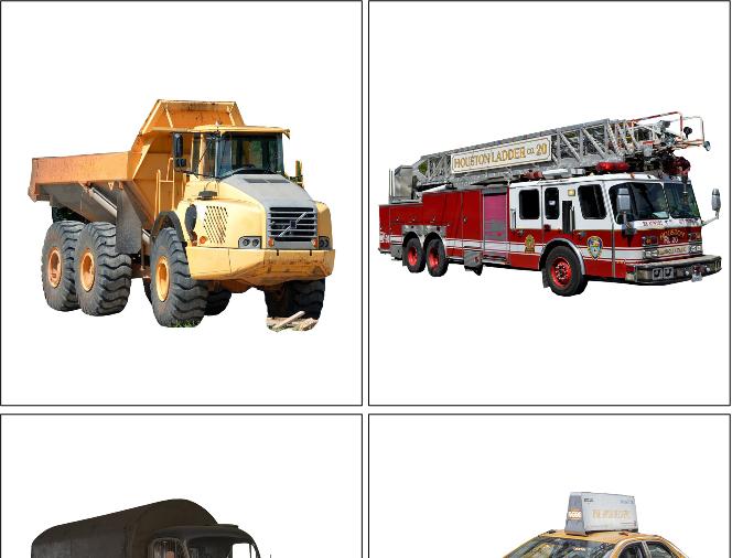 Montessori Vehicles Matching Cards