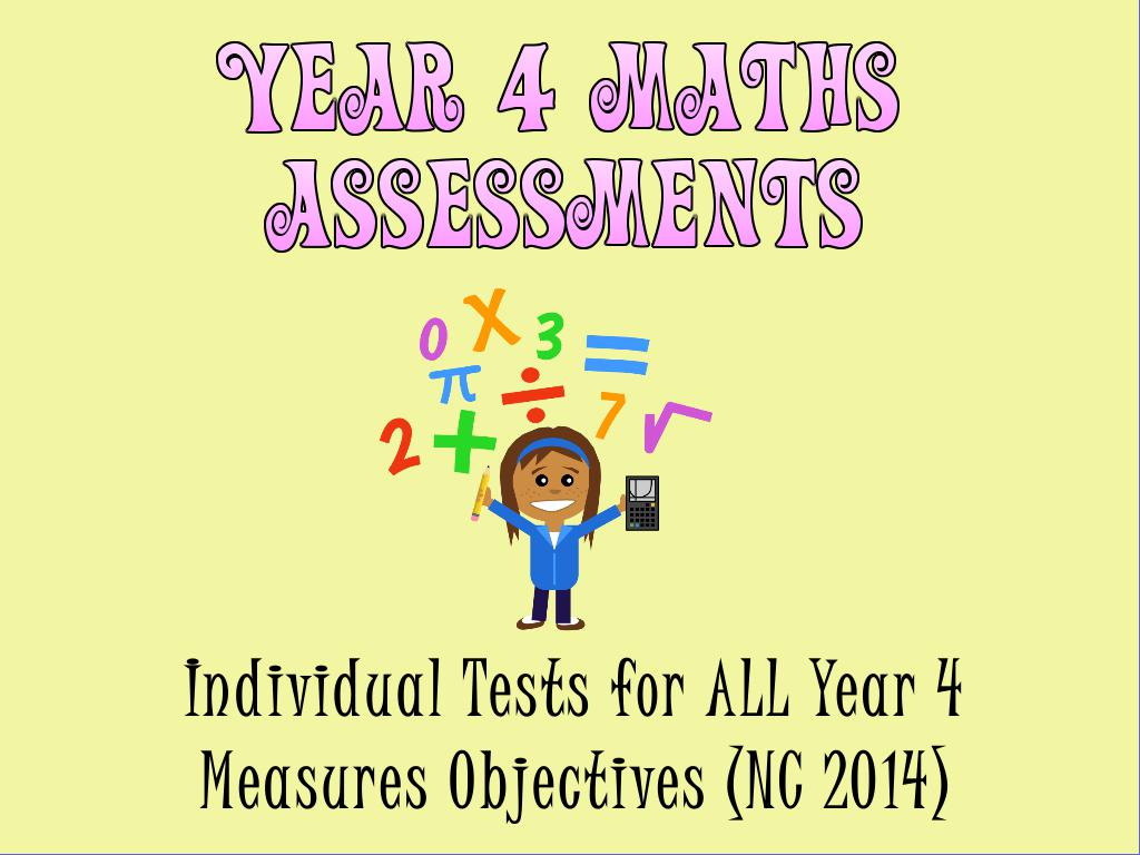 Year 4 Measures Assessments