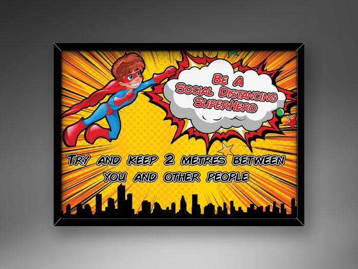2 Social Distancing Superhero Posters