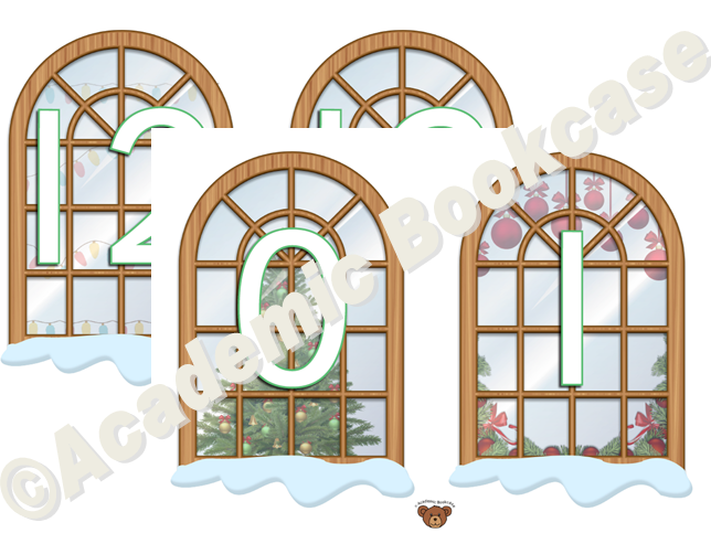 Numbers 0-20 on Christmas windows