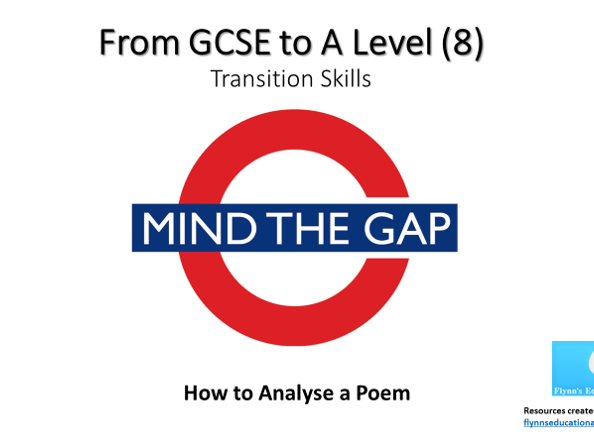 GCSE to A Level Transition: Poetry Analysis