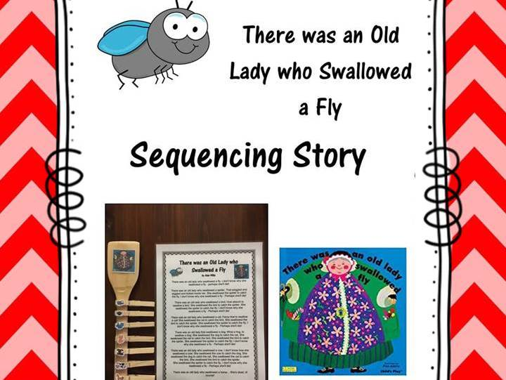 There was an Old Lady who Swallowed a Fly Sequencing Story