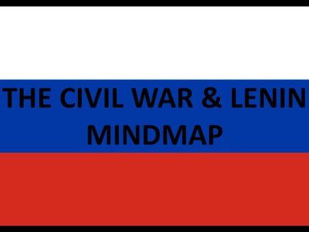The Civil War & Lenin Mindmap