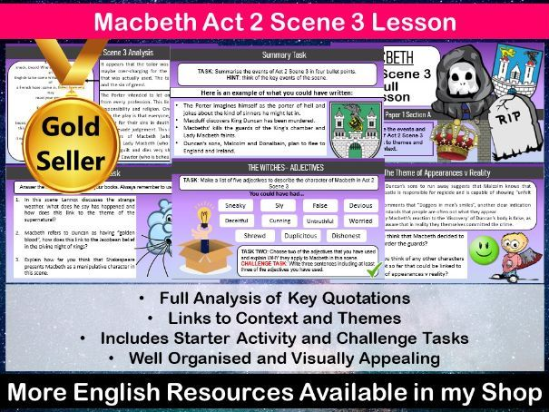 Macbeth Act 2 Scene 3 Lesson