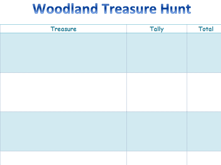 KS1 & 2 Woodland identification treasure hunt.