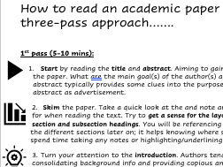 How to read an academic paper