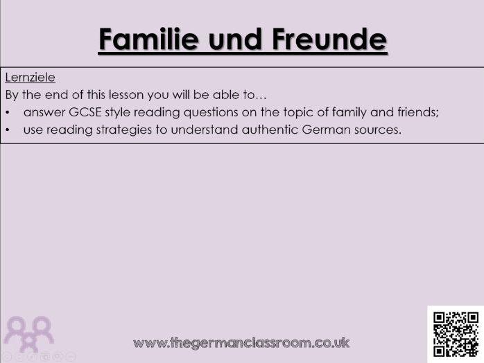 Familie & Freunde Quiz