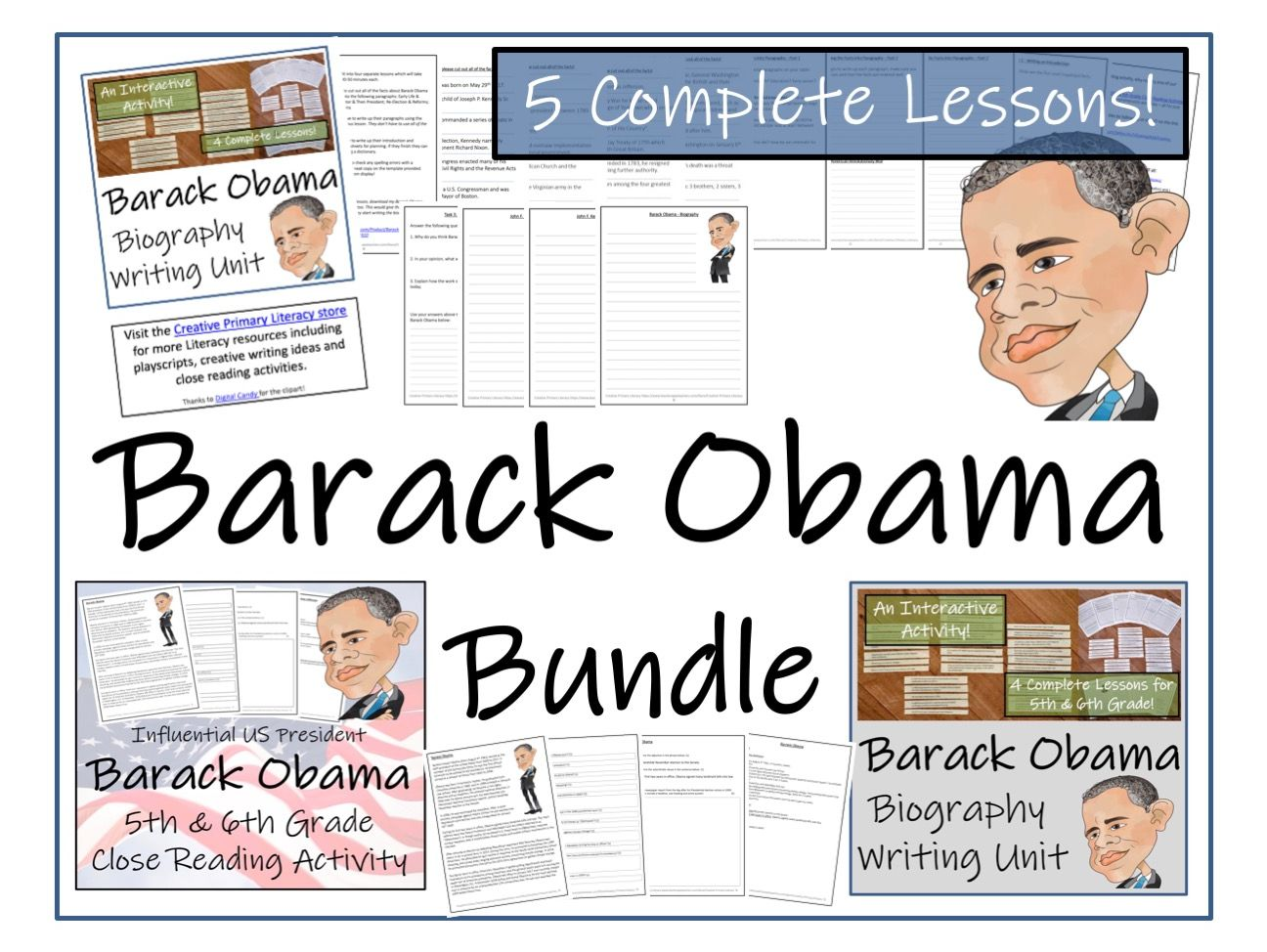 UKS2 Literacy - Bundle of Barack Obama Activities