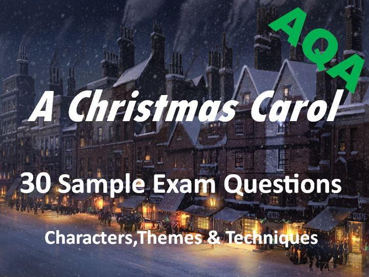 A Christmas Carol - Exam Questions