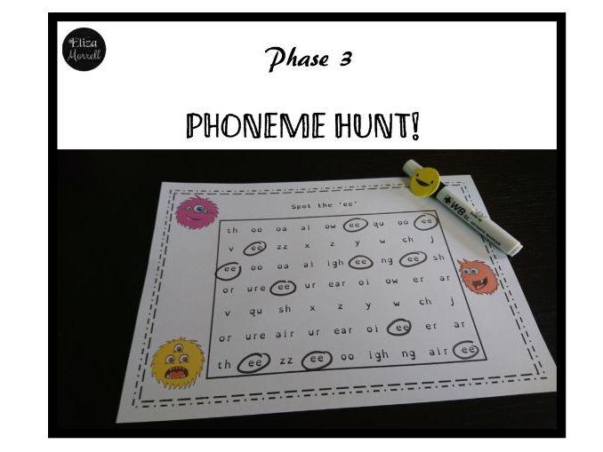 Phase 3 Phonics Visual Discrimination Worksheets