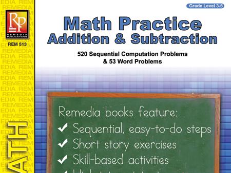 Addition & Subtraction: Math Practice
