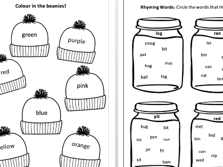 Kids Phonics and Colouring Activity