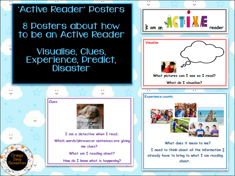 'Active Reader' display for KS1 and KS2