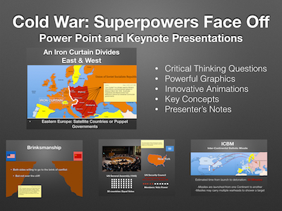 Cold War Superpowers Face Off PowerPoint & Keynote Presentations