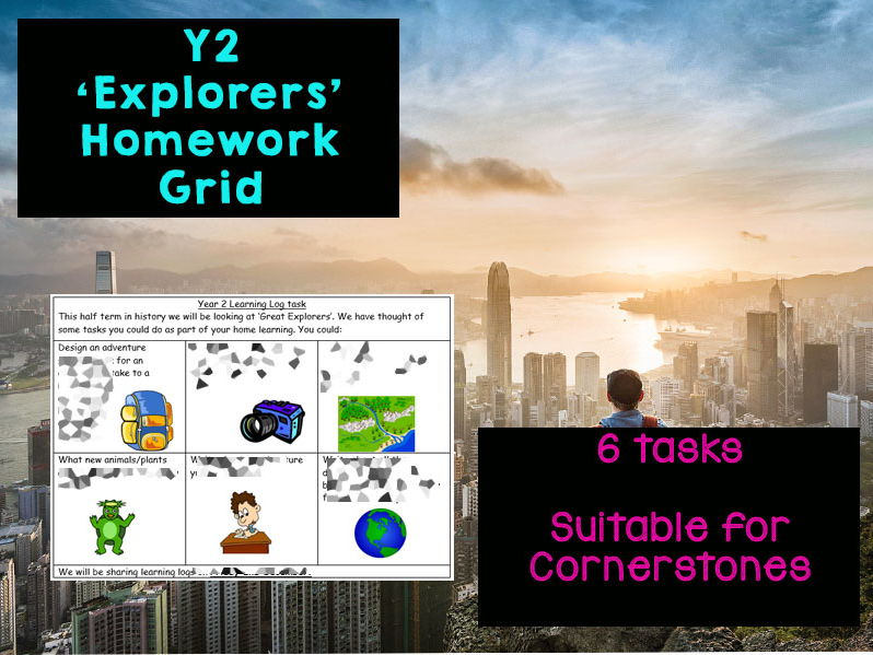 6 Week Y2 Great Explorers Homework Grid