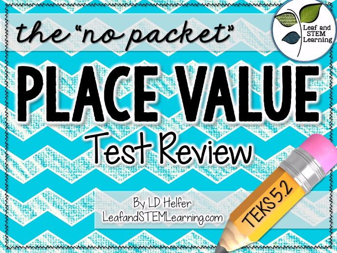 Test Review 5th Grade Math {Place Value}