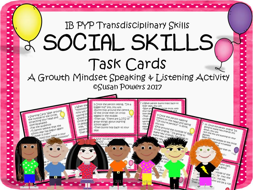 Social Skills Task Cards for Developing a Positive Mindset