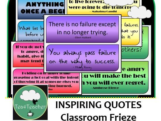 x50 Printable Famous Quotes for Classroom Decoration- Famous Quotes for Frieze Display Word Wall