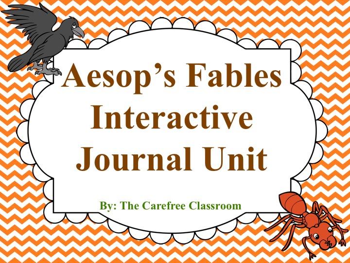 Aesop's Fables Interactive Journal Unit