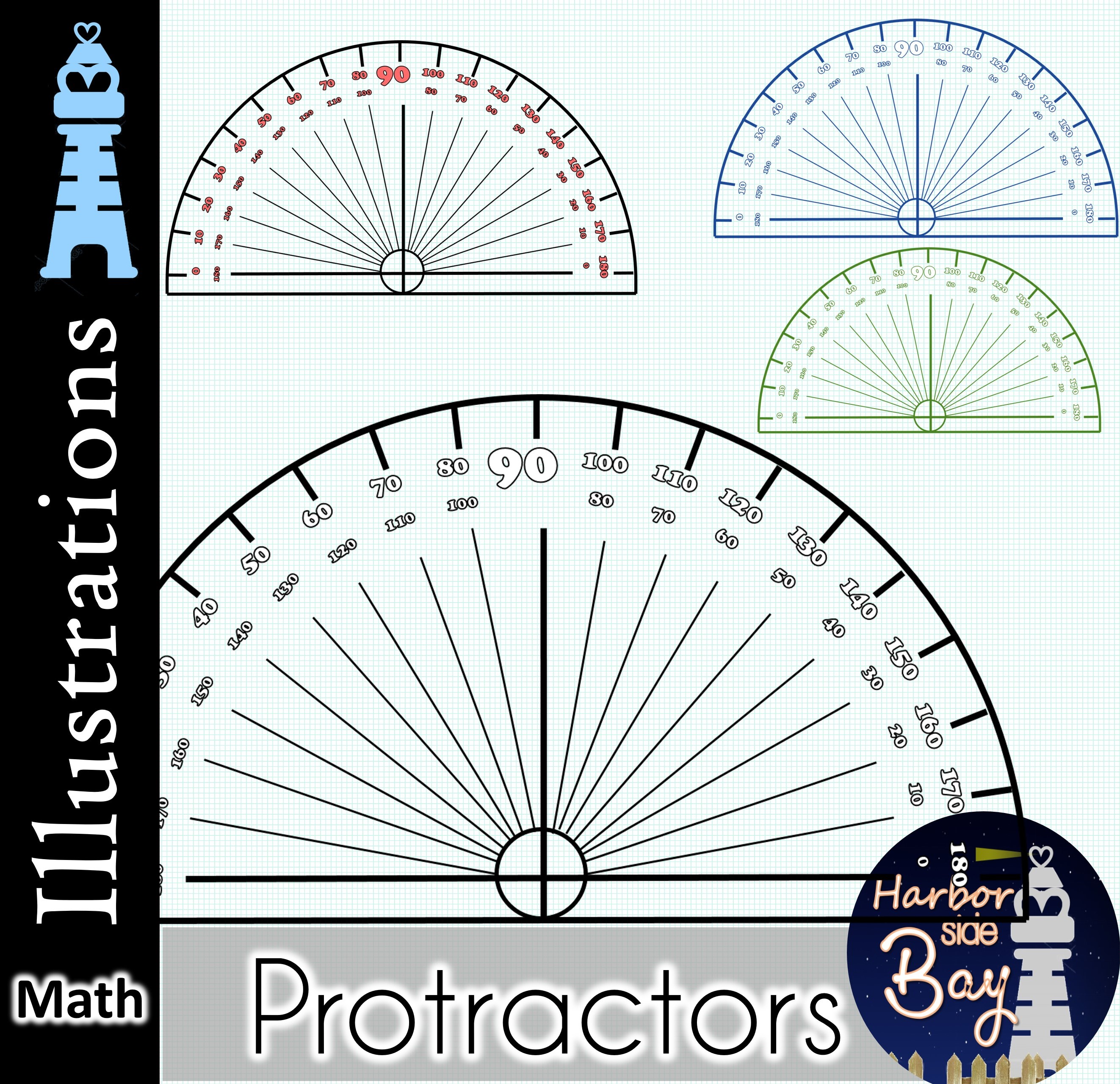 It is a photo of Protractor Printable in actual size