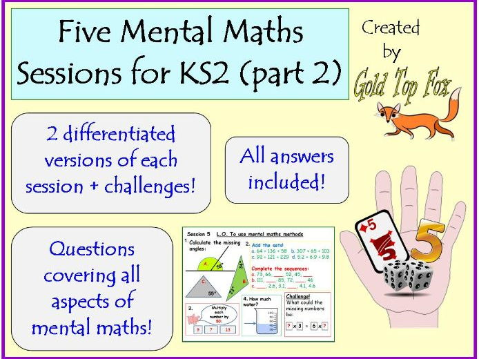 Five full mental maths sessions for KS2 (part2)