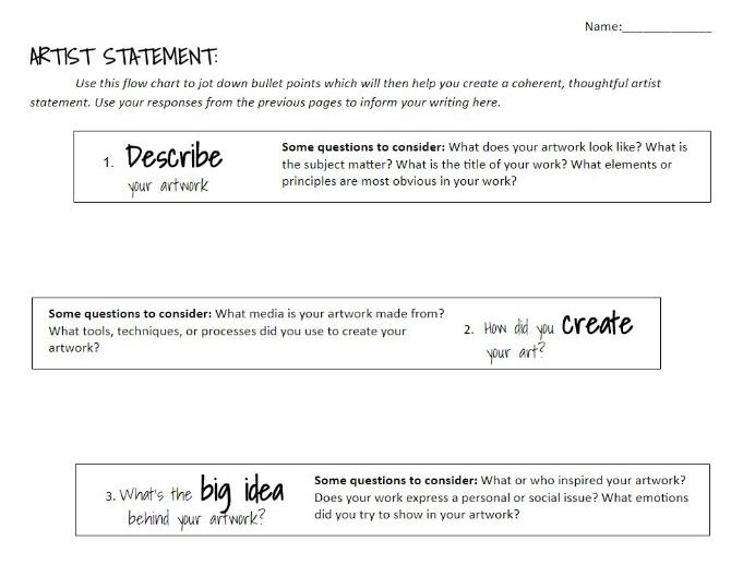 Guidelines for Art Student-Created Projects
