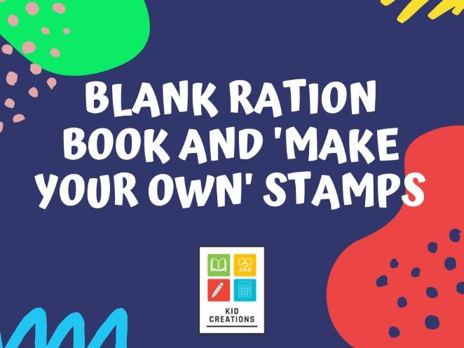 Blank Ration Book and 'make your own' Stamps