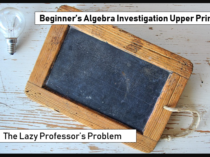 Using algebra to solve a given problem