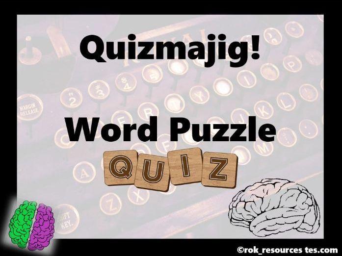 Word Puzzle Quiz - Quizmajig!