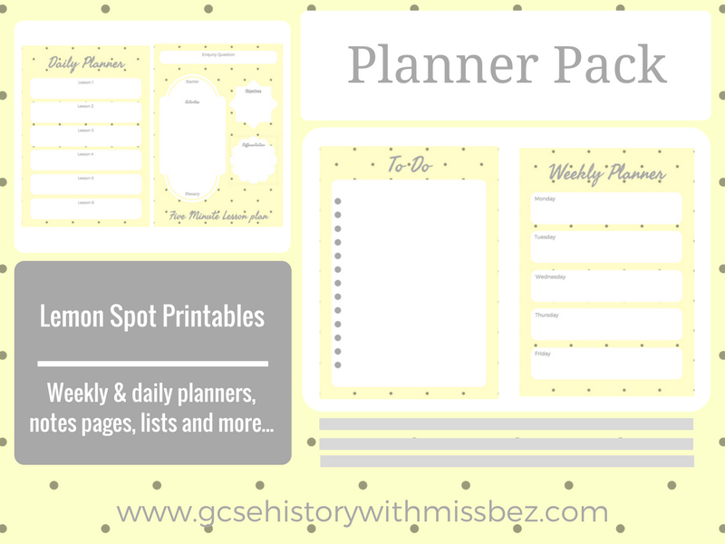 Teacher Planner Pack - Daily and Weekly Printables to Support Your Planning (Lemon Spot Theme)