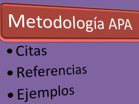 Infografía sobre las citas y referencias en metodología APA (con ejemplos)