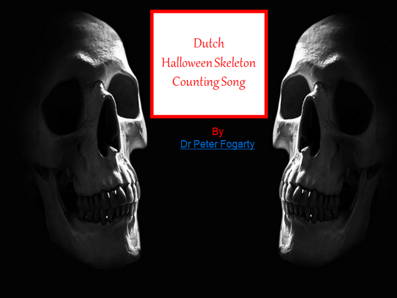 Dutch Halloween Skeleton Counting Song - PowerPoint + Halloween Worksheets + 31 Teaching Ideas