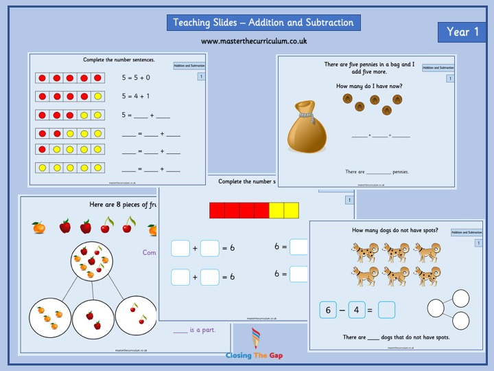 Year 1- Autumn Term- Block 2- Addition and Subtraction White Rose Style Teaching Slides
