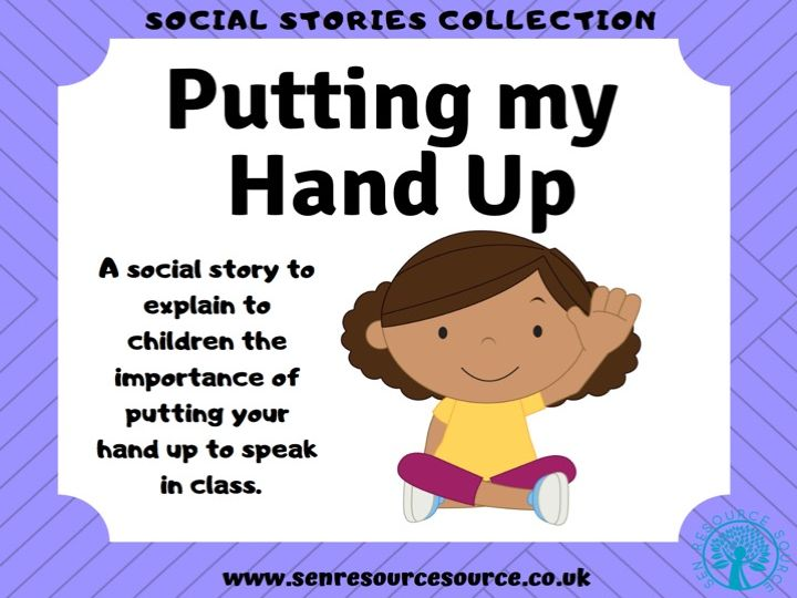 Putting my Hand up to Speak Social Story