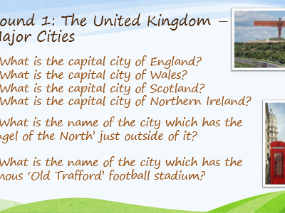 Geography Place Knowledge Quiz - Key Stage 2