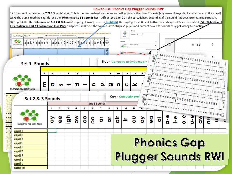 Phonics Gap Plugger Sounds RWI